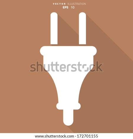 electric plug icon. electric fork symbol - stock vector