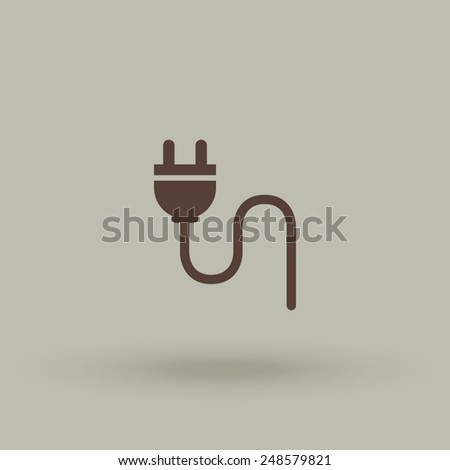 Electric plug vector icon. - stock vector