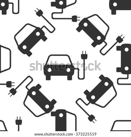 Electric powered car symbol icon pattern / Electric powered car pattern / Electric powered car pattern Image / Electric powered car pattern Art / Electric powered car seamless pattern - stock vector