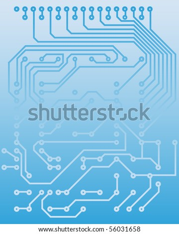 Electric scheme for design use. Vector illustration. - stock vector