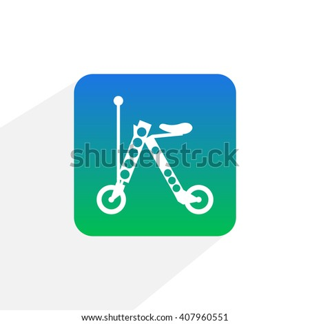 Electric scooter icon, scooter icon, motorcycle, electric motorcycle, eco mobile, self balance, personal transport - stock vector