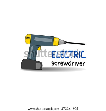 electric screwdriver vector illustration