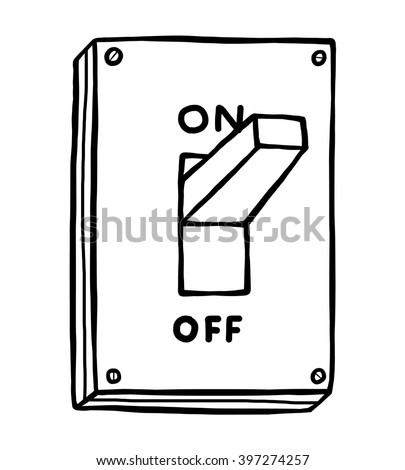 electric switch cartoon vector illustration black vectores