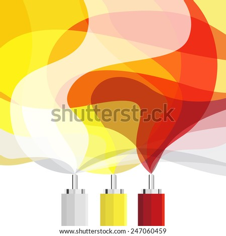 electric wave signal background, abstract vector illustration - stock vector