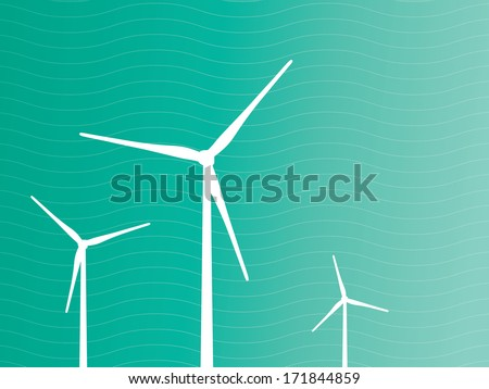 Electric Windmills Design Layout - stock vector