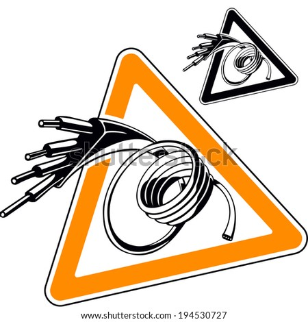 Electric Wire Sign Symbol Cable Vector Stock Vector 194530727 ...