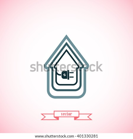 Electric Wire Plug Showing House Stock Vector 402931492 - Shutterstock
