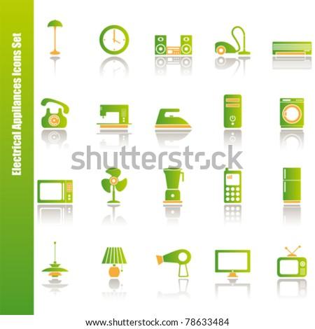 Electrical appliances. Illustration vector - stock vector
