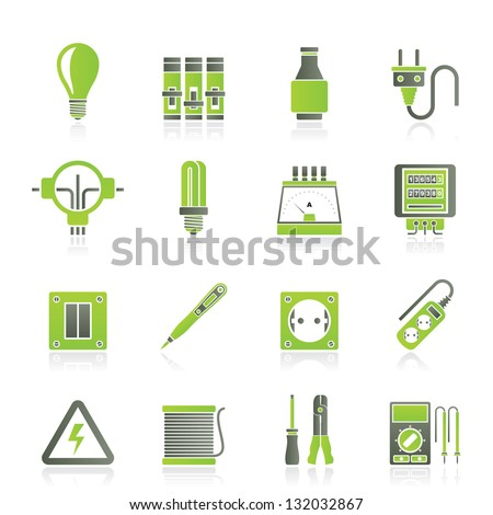 Electrical Devices Equipment Icons Vector Icon Vector – Icons Fuse Box