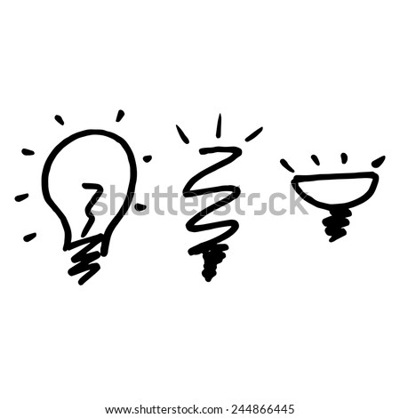 electrical , fluorescent and LED lamps - stock vector