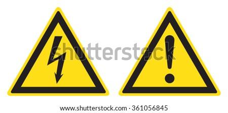 Electrical hazard sign, danger sign - stock vector