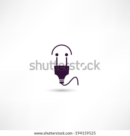 Electrical plug icon - stock vector