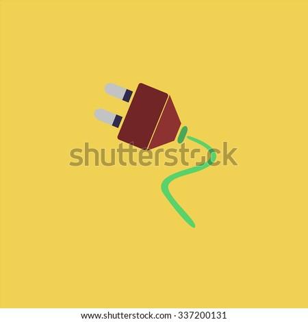 Electrical plug. Icon Vector. Icon Picture. Icon Graphic. Icon Art. Icon JPG. Icon JPEG. Icon EPS. Icon AI. Icon FLAT. Icon SIMPLE - stock vector