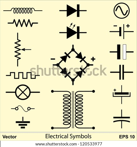 Electrical Symbols Stock Vector (2018) 120533977 - Shutterstock
