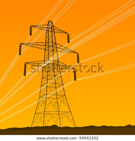 Electrical Tower - stock vector