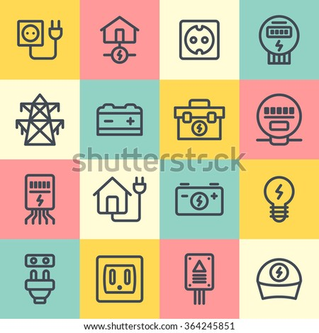 Electrician icon - stock vector