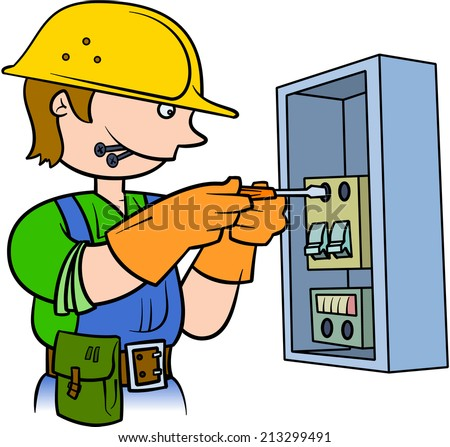 Electrician Repairing An Electrical Panel