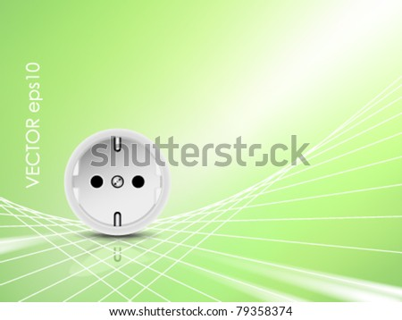 Electricity and energy background - stock vector