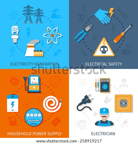 Electricity design concept set generation electrical stock for Household electrical design