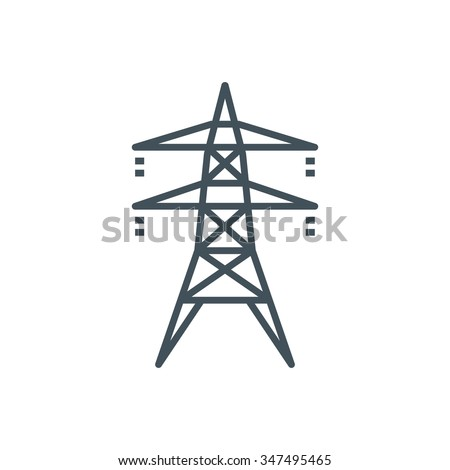 Electricity icon suitable for info graphics, websites and print media and  interfaces. Line vector icon. - stock vector
