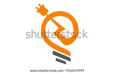 Electricity Logo Stock Vector 416654494