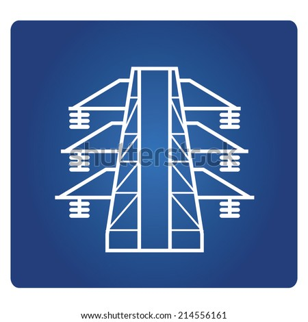 electricity post symbol - stock vector