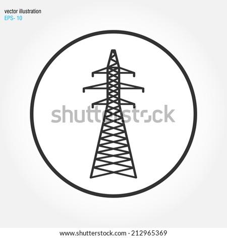 electricity power icon - stock vector