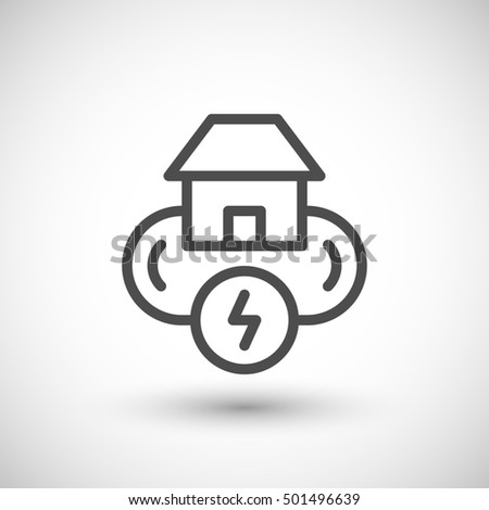 Electricity system line icon