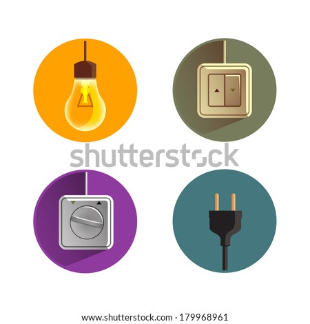 Electricity.Vector format - stock vector