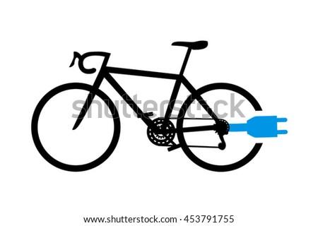electro bike symbol - stock vector