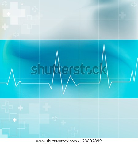 Electrocardiogram Graphic - stock vector
