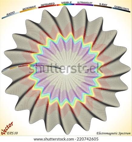 Electromagnetic Spectrum - stock vector