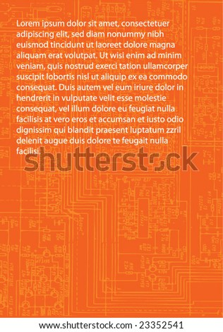 electronic background - stock vector