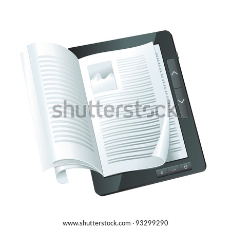electronic book concept - vector illustration - stock vector