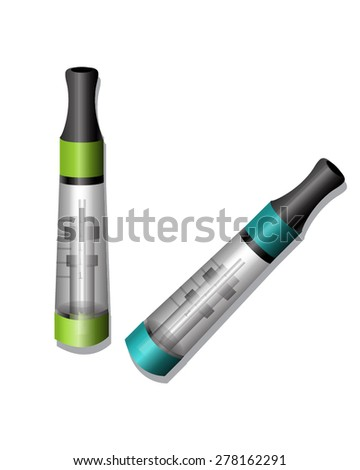 Electronic Cigarette Atomizers - stock vector