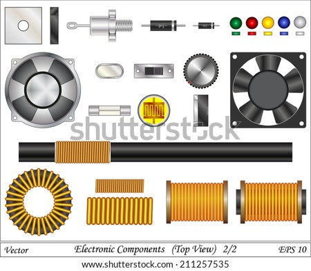 Electronic Components - stock vector
