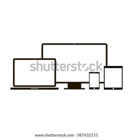 Electronic devices icon - stock vector