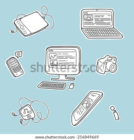 Electronic devices. Vector illustration - stock vector