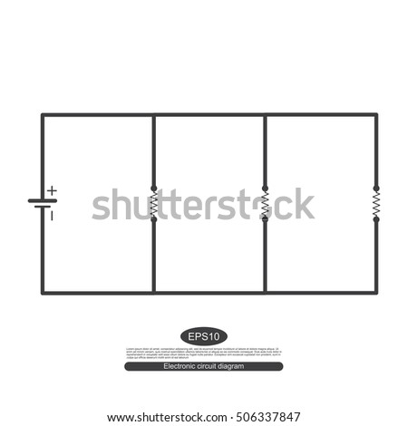 Electronic Symbols Learning Basic Electrical Circuits Stock Vector ...