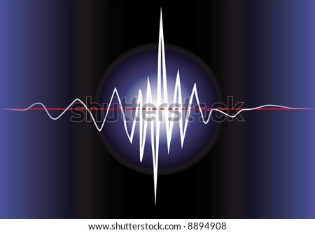 Electronic wave - stock vector