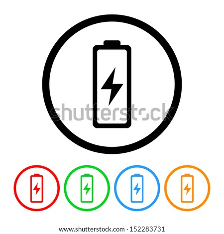 Electronics Battery Icon - stock vector