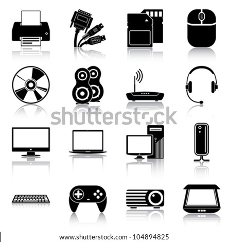 Electronics icons - stock vector