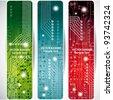 Electronics web banners - stock vector