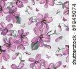 Elegance Seamless color violet pattern on floral background, vector illustration - stock vector