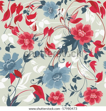 Elegance seamless floral pattern - stock vector
