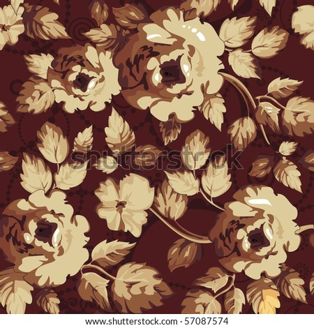 Elegance seamless floral pattern with flowers. Abstract design background, vector illustration - stock vector