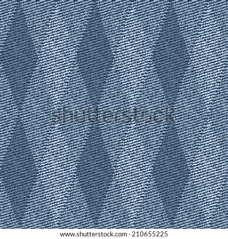 Elegance seamless pattern with denim jeans background - stock vector