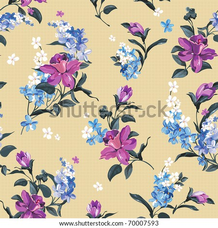 Elegance Stylish floral seamless pattern. Abstract beautiful vector illustration texture - stock vector