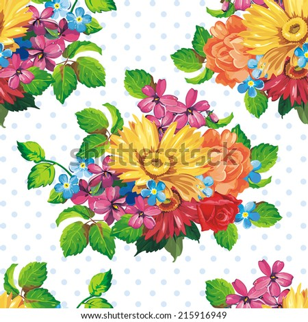 Elegance Vector background with yellow gerbera flowers - stock vector