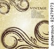 Elegance vintage background place for text or message - stock photo
